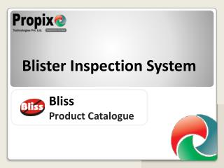 Bliss Product Catalogue