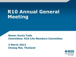 R10 Annual General Meeting