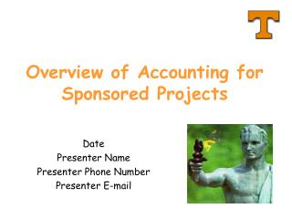 Overview of Accounting for Sponsored Projects