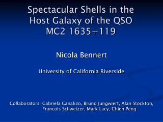 Spectacular Shells in the  Host Galaxy of the QSO  MC2 1635+119
