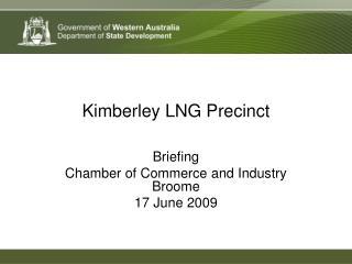 Kimberley LNG Precinct