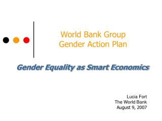 World Bank Group  Gender Action Plan