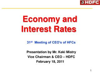 Economy and  Interest Rates