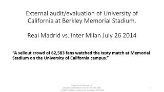 UC Berkeley soccer: Real Madrid vs. Inter Milan 7/26/14 * Appearance / Health & Safety