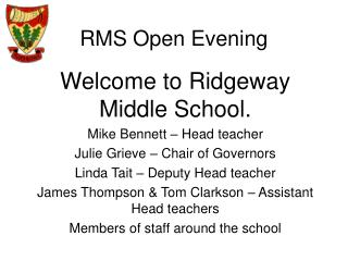 RMS Open Evening