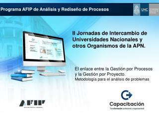 II Jornadas de Intercambio de Universidades Nacionales y otros Organismos de la APN.