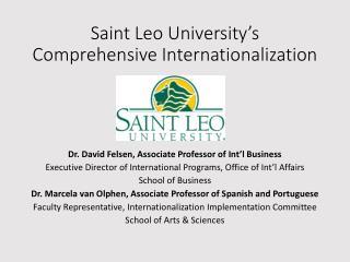 Saint Leo University's Comprehensive Internationalization
