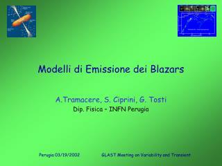Modelli di Emissione dei Blazars