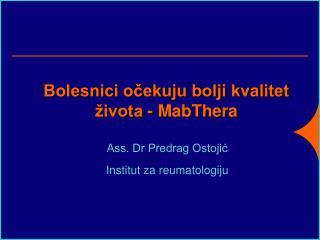 Bolesnici ocekuju bolji kvalitet  ivota - MabThera