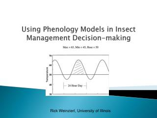 Using Phenology Models in Insect Management Decision-making