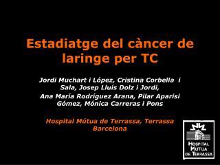 Estadiatge del c ncer de laringe per TC