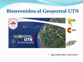 Bienvenidos al Geoportal UTN
