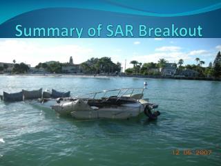 Summary of SAR Breakout