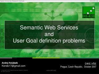 Semantic Web Services  and  U ser Goal definition problems