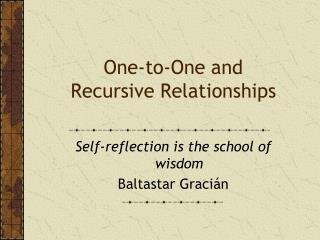 One-to-One and Recursive Relationships
