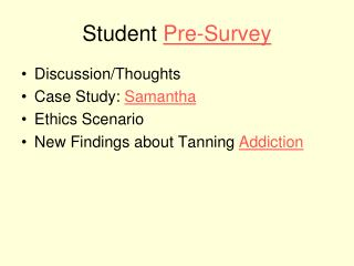 Student  Pre-Survey