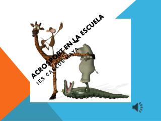 ACROSPORT EN LA ESCUELA