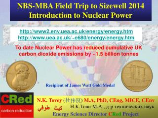 NBS-MBA Field Trip to Sizewell 2014 Introduction to Nuclear Power