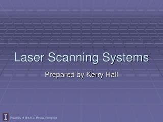Laser Scanning Systems