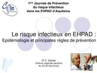 Le risque infectieux en EHPAD :  Epidémiologie et principales règles de prévention