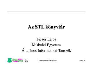 Az STL könyvtár