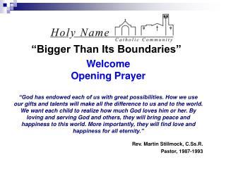 """Bigger Than Its Boundaries"""