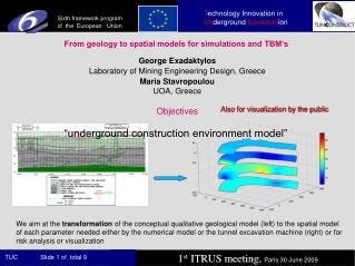 From geology to spatial models for simulations and TBM's