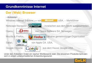 Grundkenntnisse Internet