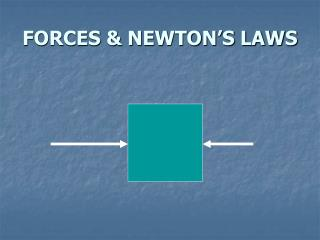 FORCES & NEWTON�S LAWS