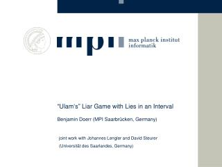 """""""Ulam's"""" Liar Game with Lies in an Interval"""