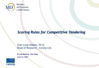 Scoring Rules for Competitive Tendering