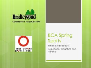 BCA Spring Sports