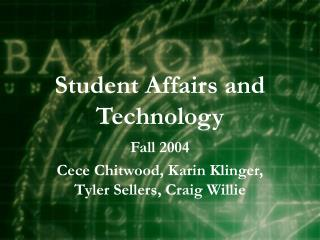 Student Affairs and Technology