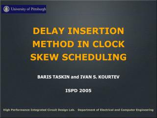 DELAY INSERTION METHOD IN CLOCK SKEW SCHEDULING