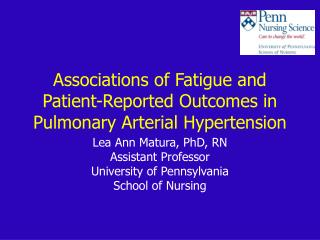 Associations of Fatigue and Patient-Reported Outcomes in Pulmonary Arterial Hypertension