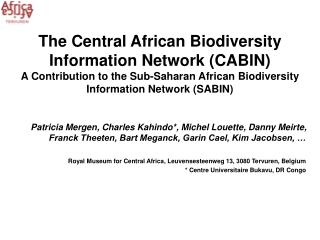 Many projects in Biodiversity Information and Cyber-taxonomy A lot of information and data