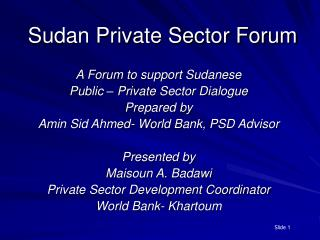 Sudan Private Sector Forum