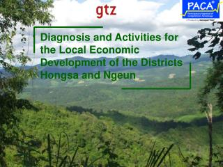 Diagnosis and Activities for the Local Economic Development of the Districts  Hongsa and Ngeun