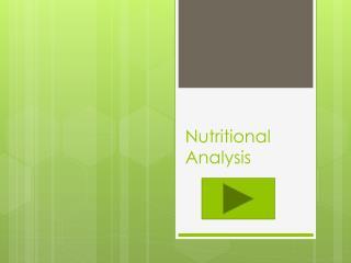 Nutritional Analysis