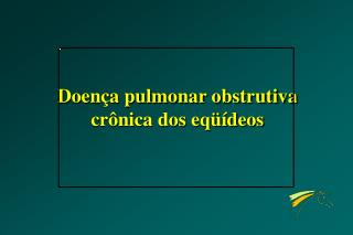Doença pulmonar obstrutiva crônica dos eqüídeos