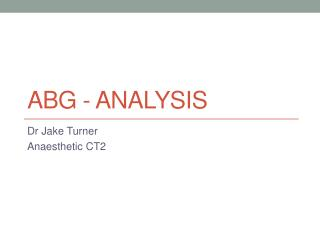 ABG - Analysis
