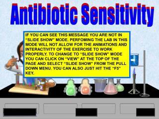 Antibiotic Sensitivity