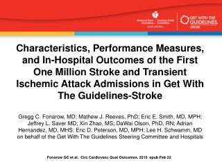 Fonarow GC et al.   Circ Cardiovasc Qual Outcomes. 2010  epub Feb 22