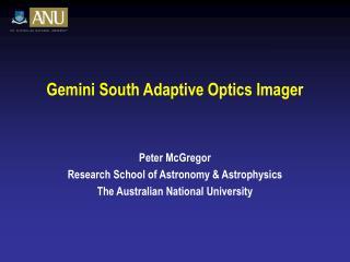 Gemini South Adaptive Optics Imager