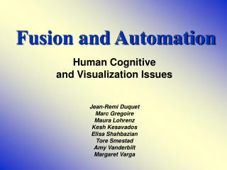 Fusion and Automation