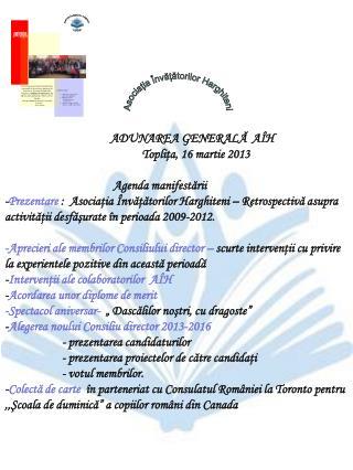 Asociația  Învățătorilor  Harghiteni