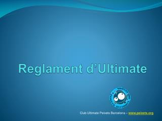 Reglament  d'Ultimate