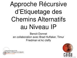 Approche Récursive  d'Etiquetage des Chemins Alternatifs au Niveau IP