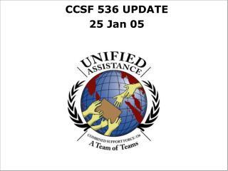 CCSF 536 UPDATE 25 Jan 05