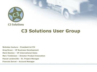 C3 Solutions User Group